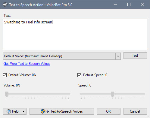Updated Text To Speech Window